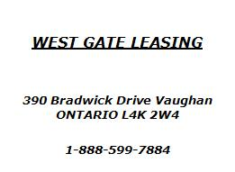 West Gate Leasing >> West Gate Leasing Vaughan Wheels Ca